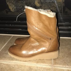 2df546ab276 UGG Lorna Genuine Shearling Lined Wedge Boot